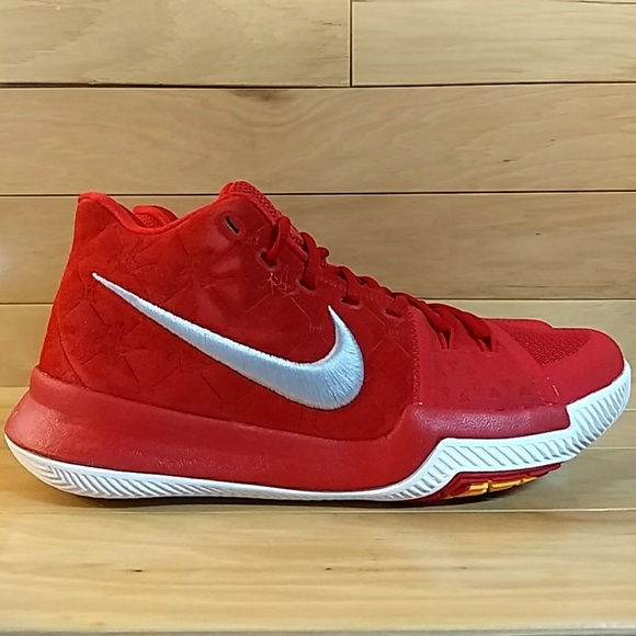 check out 93645 d6754 Nike Kyrie 3 Red Mens Basketball Shoe 852395-601 NWT